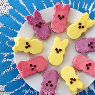 Natually Colored Raspberry, Blueberry and Lemon Cheesecake Peeps