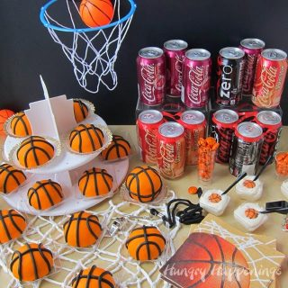 NCAA® March Madness Party Mini Cherry Coke Basketball Cakes