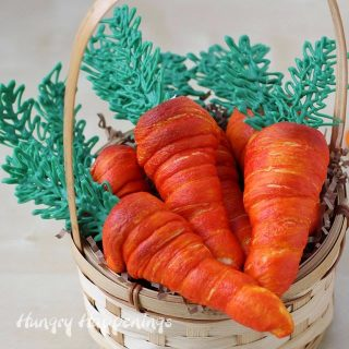 Crescent Roll Cream Horn Carrots for Easter Brunch