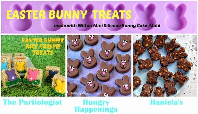 Use a silicone bunny mold to make fun Easter bunny treats.