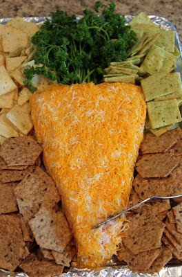 "Easter ""Carrot"" Cheese Ball"