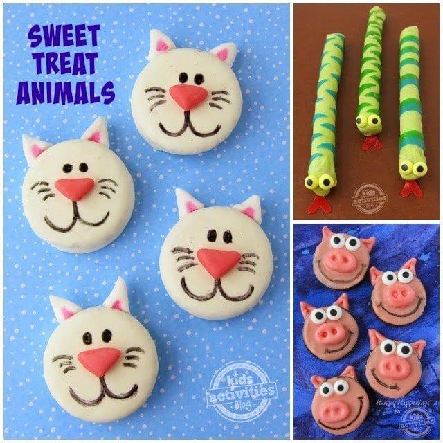 Sweet Animal Treats - Oreo Cats & Pigs and Pretzel Pop Snakes