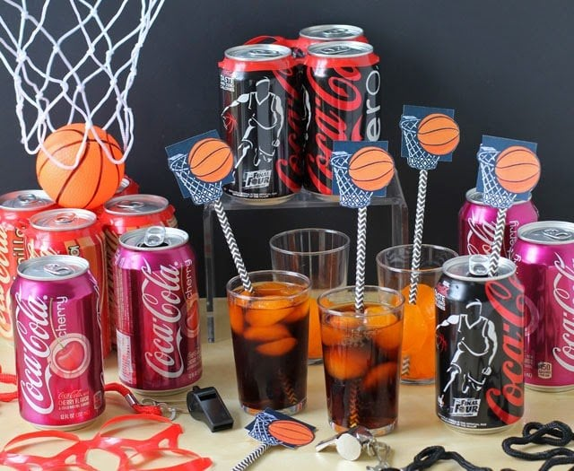 Today I'll show you how to score big points by serving Mini Cherry Coke Basketball Cakes at your NCAA® March Madness Party as part of a sponsored post for #Collective Bias and Coca-Cola. Coca-Cola is a corporate champion of the NCAA#FinalFourPack