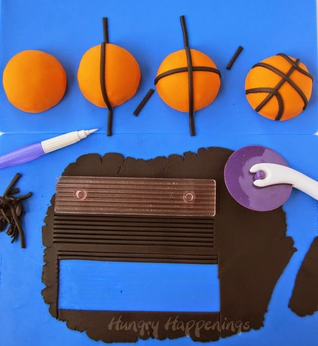 How to make mini basketballs cakes tutorial from HungryHappenings.com