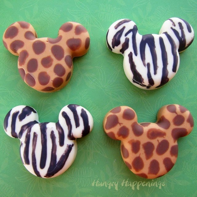 Learn how to make Mickey Mouse Animal Print Candies at HungryHappenings.com