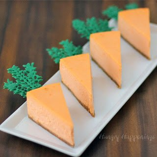 Orange Cheesecake Carrots - sweet Easter treats.