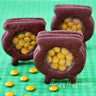 Peek Inside Chocolate Pot of Gold Cookies