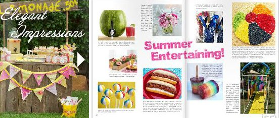 Beach Ball Fruit Pizza in Elegant Impressions magazine