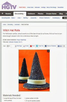 Witch Hat Appetizers featured on HGTV