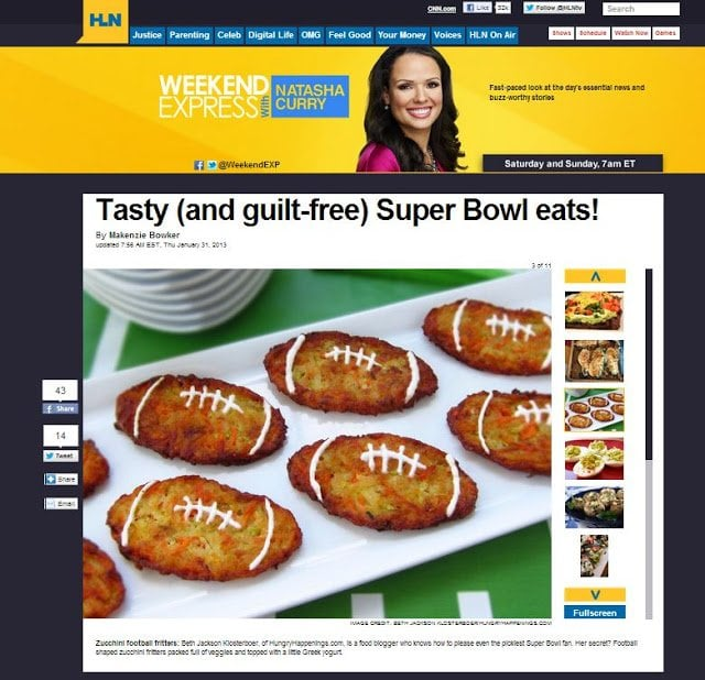 Football Fritters featured on CNN's HLN
