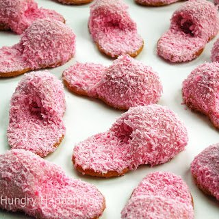 Pink Fuzzy Slippers can be edible and super fun. These Pink Fuzzy Slipper Cookies are made from Nutter Butters and Peanut Butter Fudge.