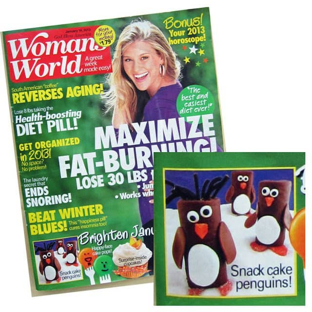 Snack Cake Penguins on cover of Woman's World Magazine