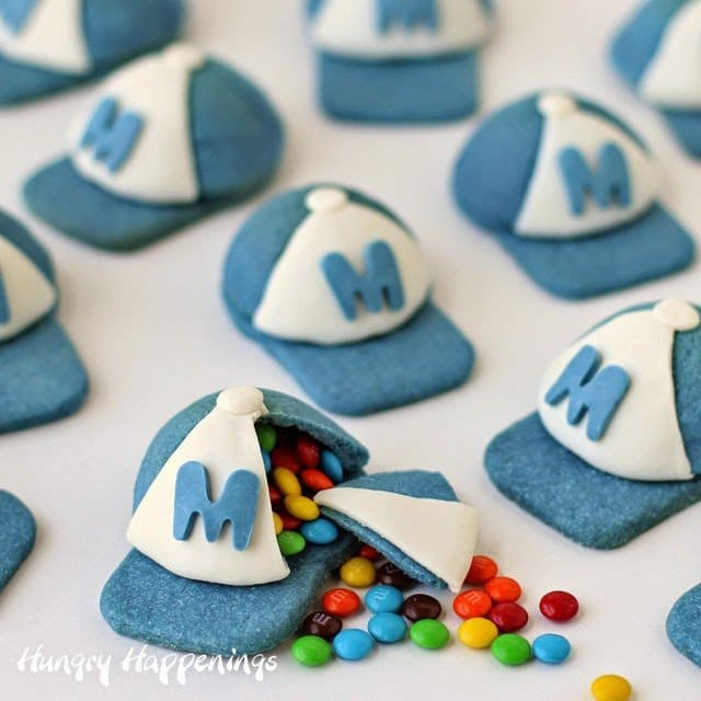 Chocolate Baseball Cap: Candy Filled Baseball Cap Pinata Cookies