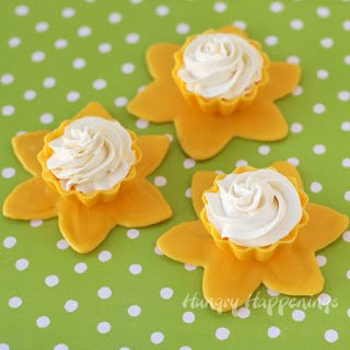 Beautiful daffodil candy cups filled with lemon mousse make a lovely dessert for Mother's Day.