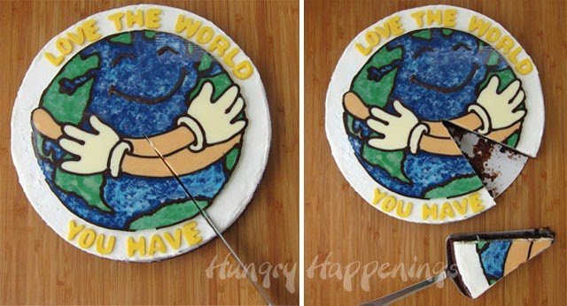 Celebrate Earth Day with a Love the World Chocolate Topped Brownie