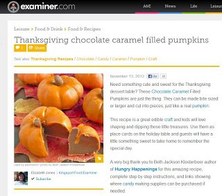 Caramel Chocolate Pumpkins in Examiner.com