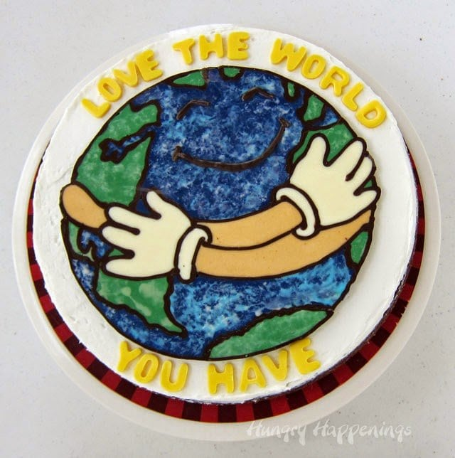 Celebrate Earth Day by making a Love the World Brownie