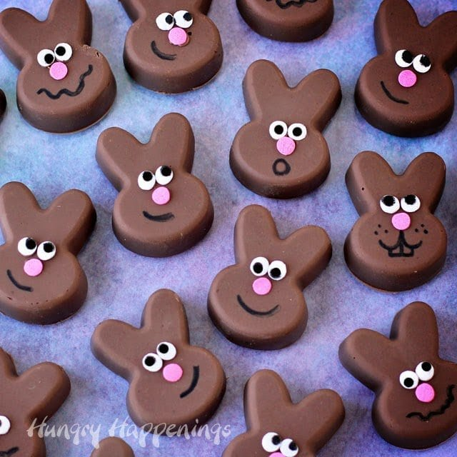 Easy chocolate fudge Easter bunnies are fun to make and eat.