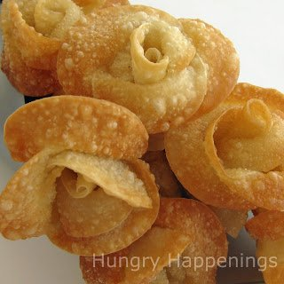 Dress up your table this Mother's Day by adding some Fried Won Ton Roses.