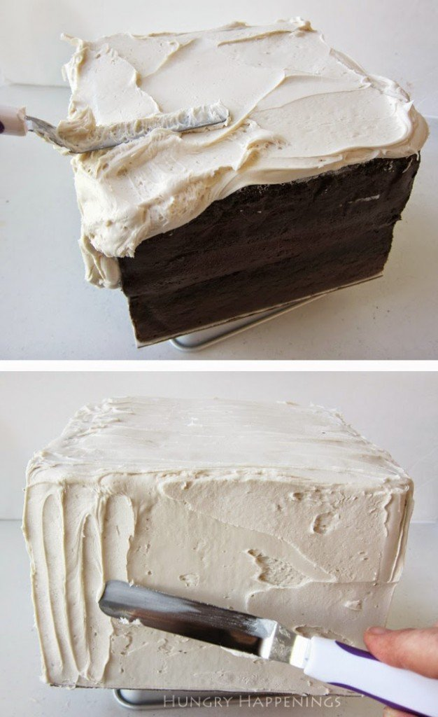 Frosting a Marry Me? Reveal Cake.
