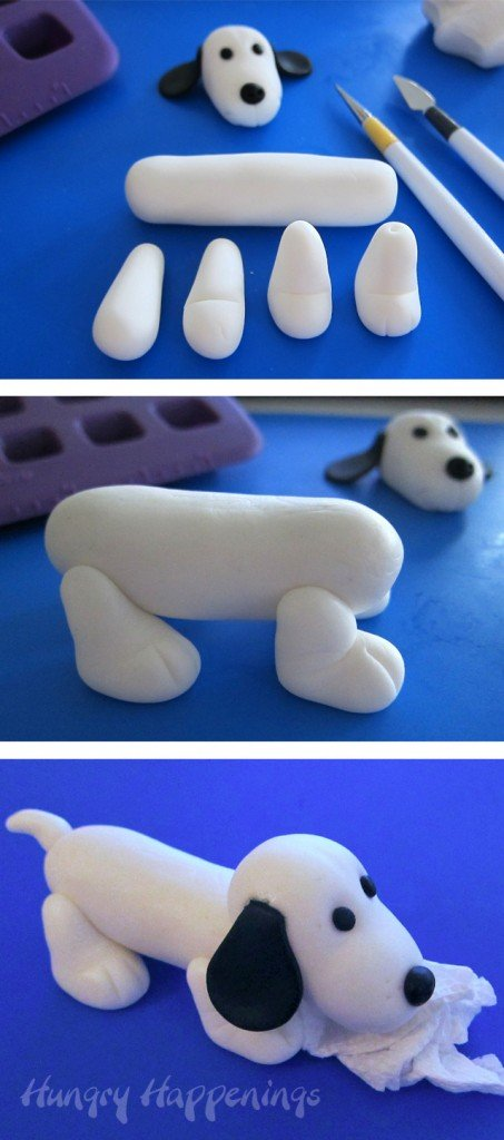 How to make a fondant autograph dog.