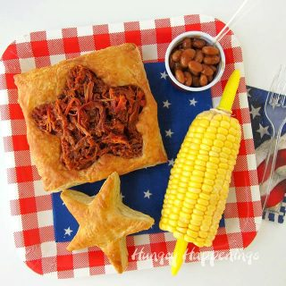 Patriotic Puff Pastry filled with Smokehouse BBQ