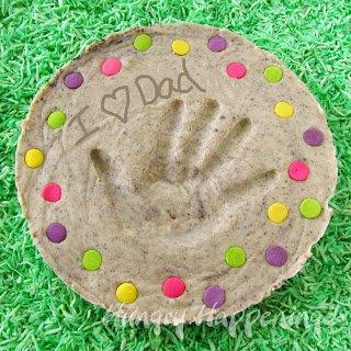 Father's Day Fudge Hand Print Recipe