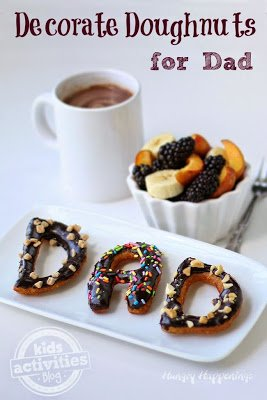 Dad Doughnuts - A Fun Father's Day Food Idea