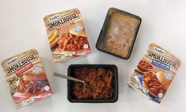 Farm Rich Smokehouse BBQ Pulled Beef Brisket, Pork, and Chicken