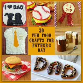 30 Fun Food Crafts for Father's Day