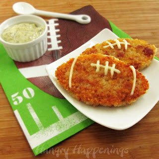 Proscuitto and Asiago Cheese Rice Cake Footballs make a fun Father's Day snack.