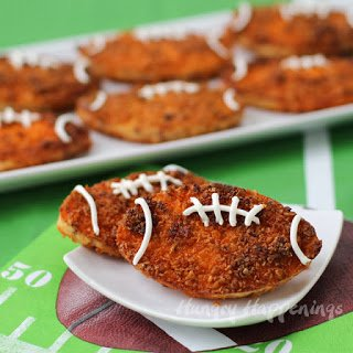 Fun Food for Father's Day - Football Potato Fritters | Hungry Happenings