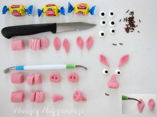 Pink Bubble Gum Ice Cream Cone Pigs supplies