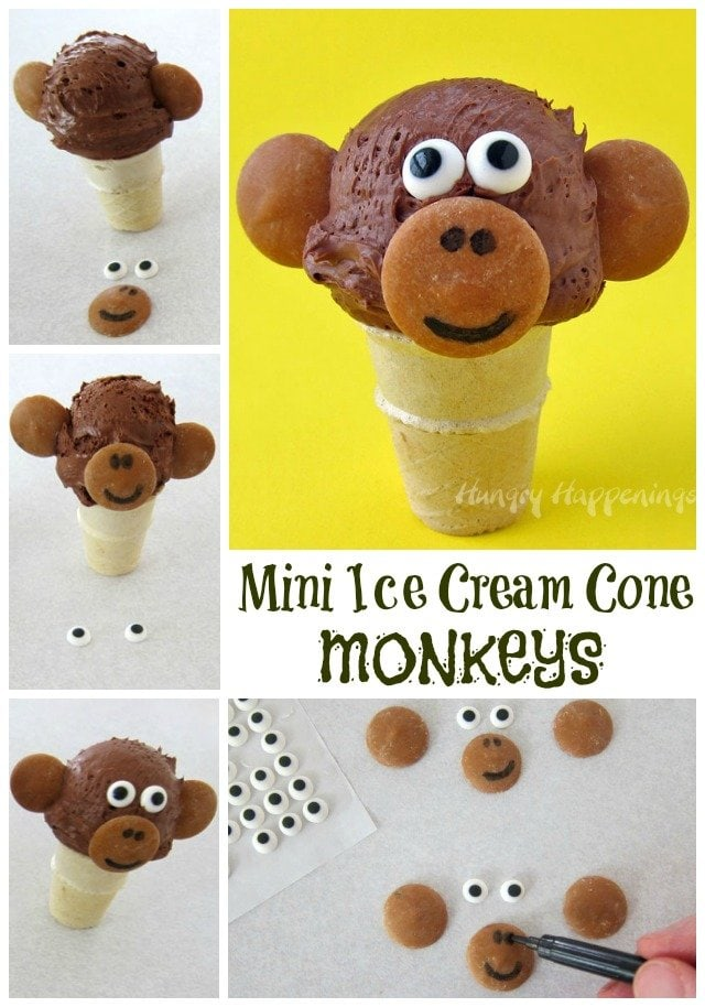 mini chocolate truffle ice cream cones by chocolate on chocolate ...
