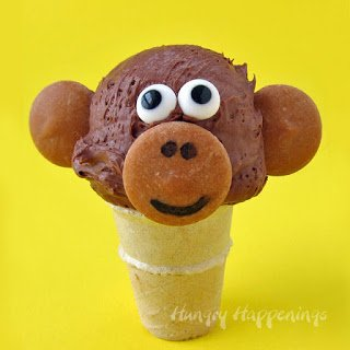 Chocolate Monkey Ice Cream Cones