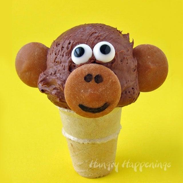 mini chocolate ice cream cone monkeys   hungry happenings