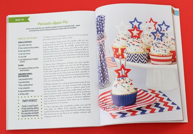 Celebrate the 4th of July with some Patriotic Apple Pie Cupcakes