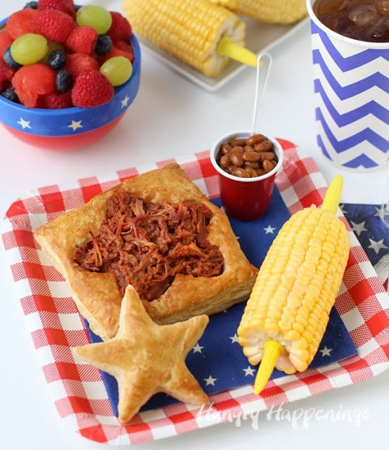A fun 4th of July BBQ dinner that's quick and easy to make. Tutorial at HungryHappenings.com