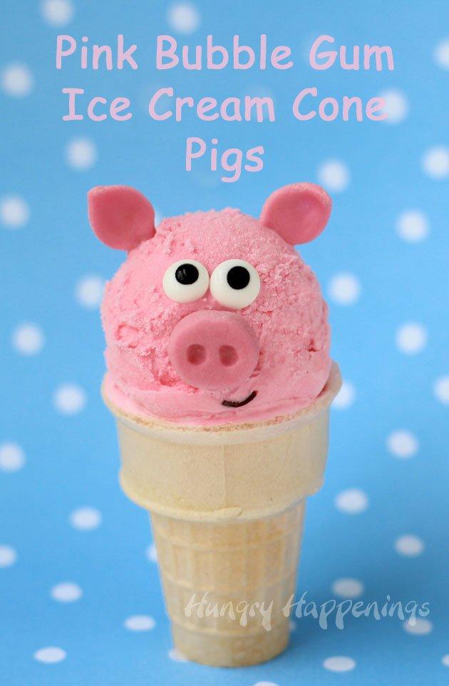 bubble gum ice cream into adorable Pink Bubble Gum Ice Cream ...