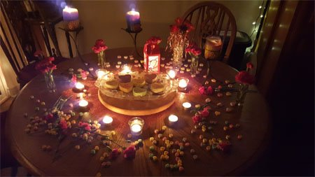 Conversation Heart Cheesecakes added a nice touch to a Valentine's Day dinner.