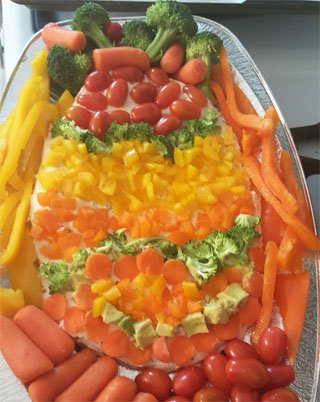 Veggie Pizza Easter Egg