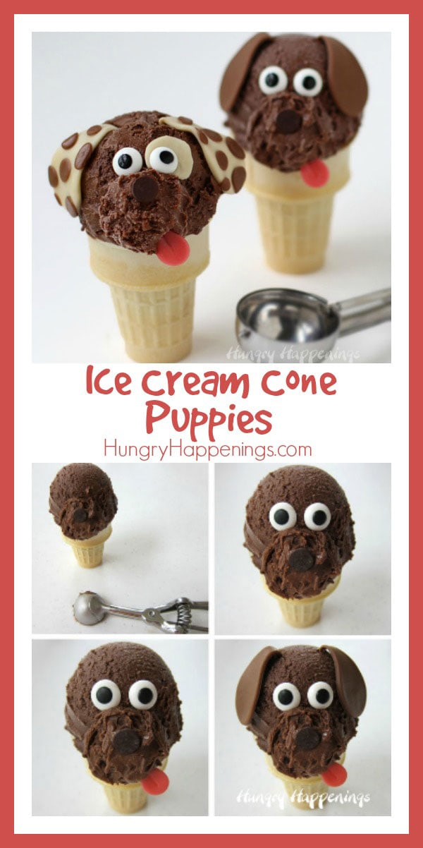 Scoop some super creamy, decadently rich, Chocolate Cashew Milk Ice Cream onto a cone to create these adorable puppies. Your kids will beg for more. This post is sponsored by Silk Cashew Milk.