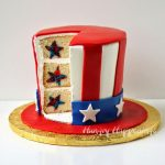 Uncle Sam Hat Cake with stars hiding inside