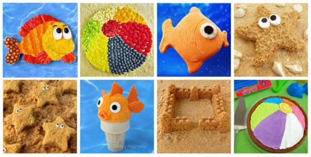 Check out these fun beach themed treats you can make for your summertime party. Tutorials at HungryHappenings.com