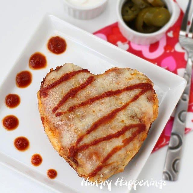 Chicken Enchilada Hearts