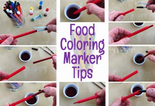How to work with dry food coloring markers and edible ink pens.