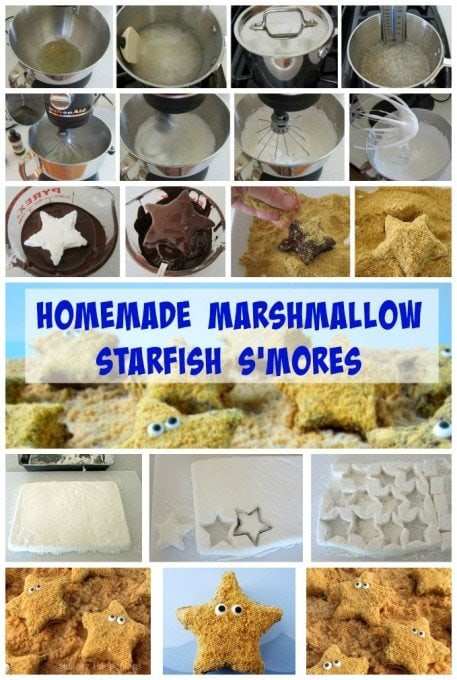 Make homemade marshmallows then turn them into adorable Starfish S'mores for your summer parties. See the recipe at HungryHappenings.com.