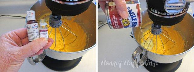 No Churn Orange Ice Cream Recipe from HungryHappenings.com