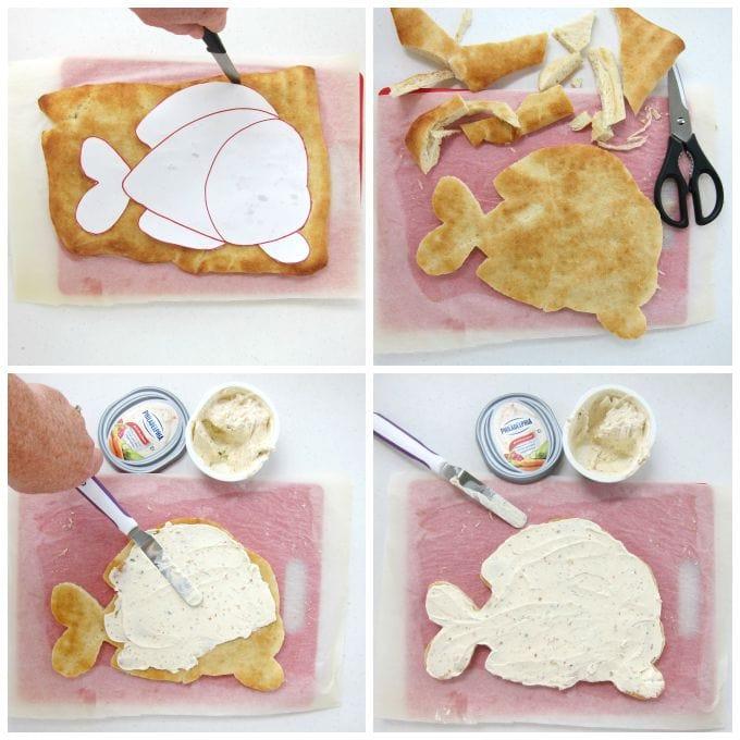 How to make a Veggie Pizza Fish using Pillsbury Pizza Crust.