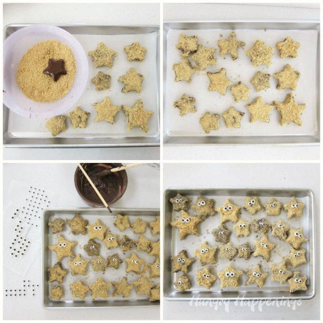 Making S'mores Starfish out of Jet-Puffed S'moreMallows is easy and fun.